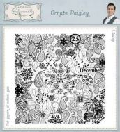 Ornate Paisley - Phill Martin Cling Rubber Stamps (SYR025)