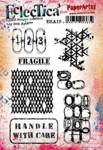 Seth Apter ESA19 PaperArtsy a5 cling rubber stamp set