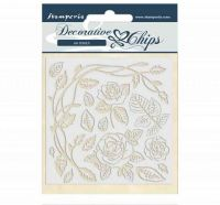 Decorative Chips 14X14 cm (UK ONLY) - Passion Roses (SCB44) by Stamperia