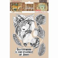 HD Natural Rubber Stamp 14X18 cm - Amazonia Jaguar (WTKCC192) by Stamperia