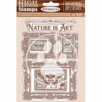 HD Natural Rubber Stamp 14X18 cm - Nature Is Art Frames (WTKCC200) by Stamperia