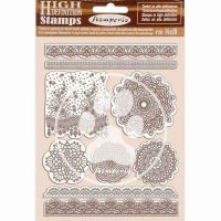 HD Natural Rubber Stamp 14X18 cm - Passion Lace (WTKCC196) by Stamperia