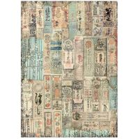 A4 Rice paper packed Sir Vagabond in Japan oriental texture (DFSA4625) by Stamperia