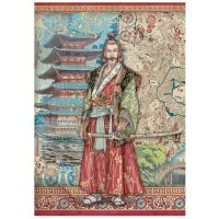 A4 Rice paper packed Sir Vagabond in Japan samurai (DFSA4613) by Stamperia
