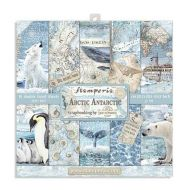 Arctic Antarctic Scrapbooking Small Pad 10 sheets cm 20cm by 20cm(SBBS20) by Stamperia