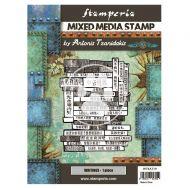 Mixed Media Stamp cm 15x20 Sir Vagabond in Japan writings (WTKAT19) by Stamperia
