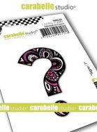 Symbol Stamp Carabelle Studio Symbol Question Cling White Rubber 5cm (SMI0269)