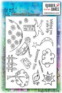 Rubber Dance Stamp Set- Whimsical Summer