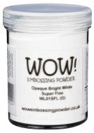 Wow! Bright White Embossing Powder Super Fine (Large Jar - 160ml) - UK ONLY