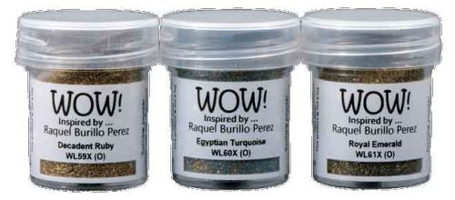 February WOW! Trio Ancient Jewels*Raquel Burillo Perez* Embossing Powder