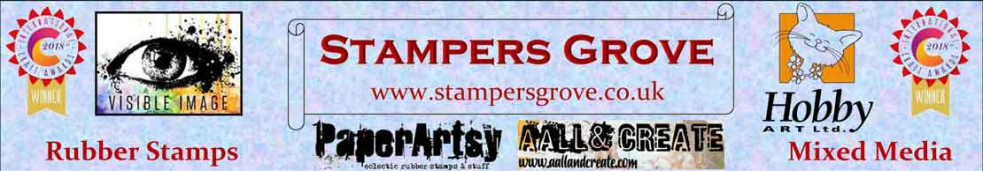Zinski (ZA37) stamp set for PaperArtsy - Stampers Grove are fans of quality art rubber stamps and stencils and all things mixed media.