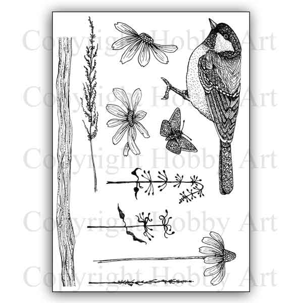 Cs161d Nature Reserve Hobby Art Stamps Stampers Grove